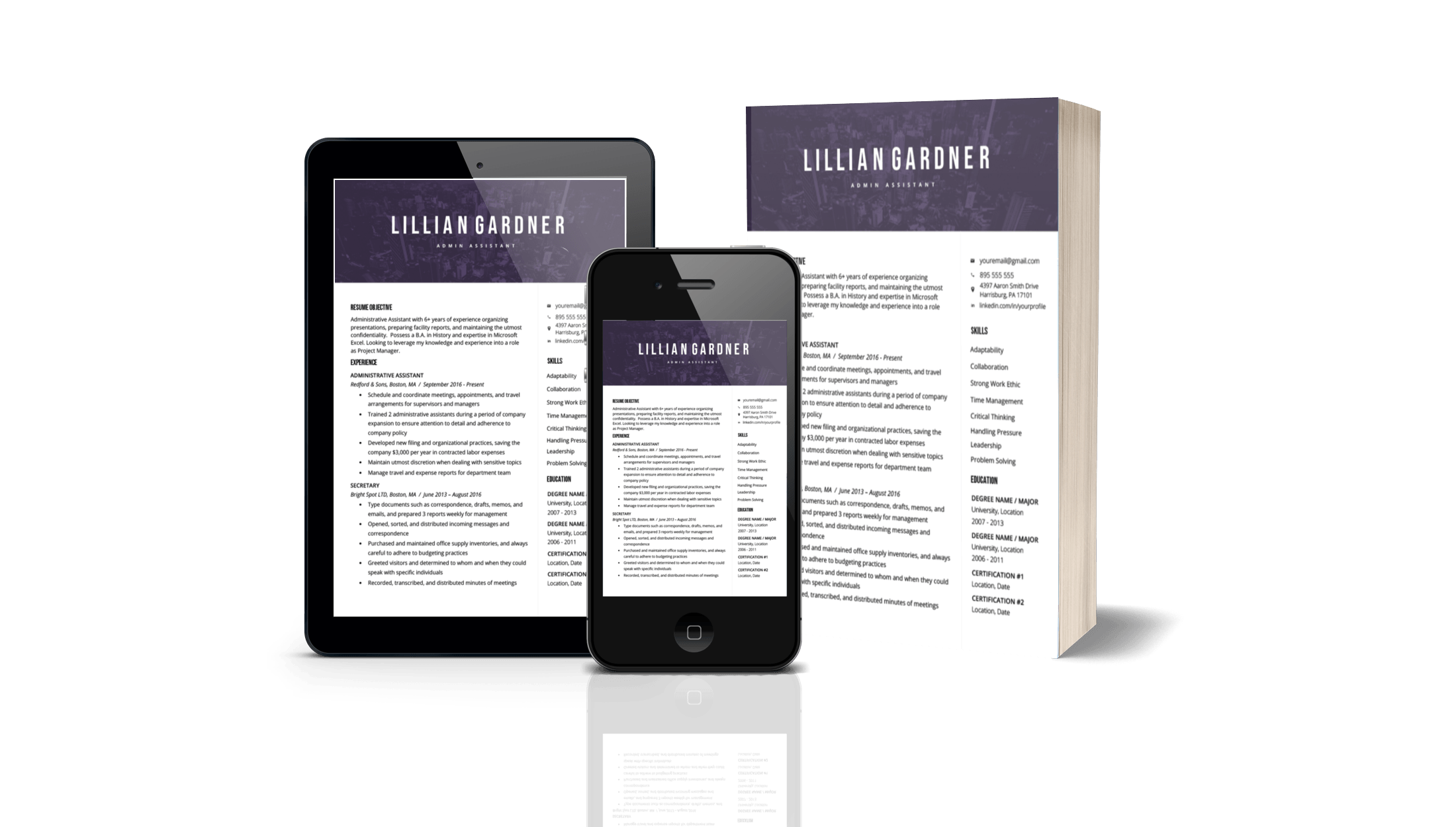 Your CV will look amazing on all devices and more!