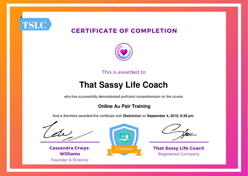 online au pair training