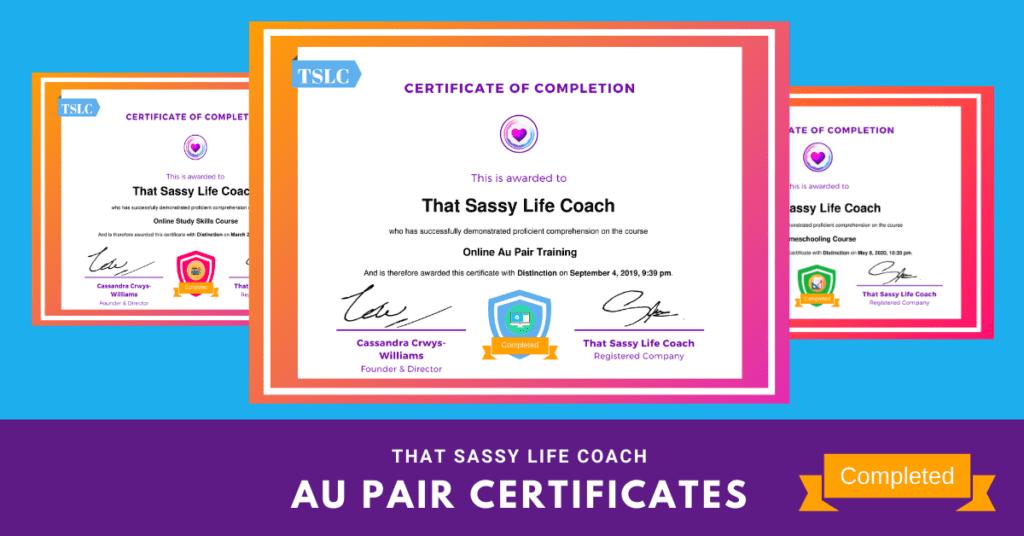au pair certificates